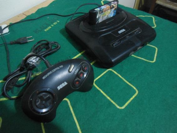 Mega Drive 3 Completo Controle Original Fita 3 Jogos Brinde