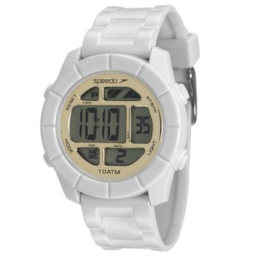Relógio Speedo Feminino Branco Digital Original Prova D