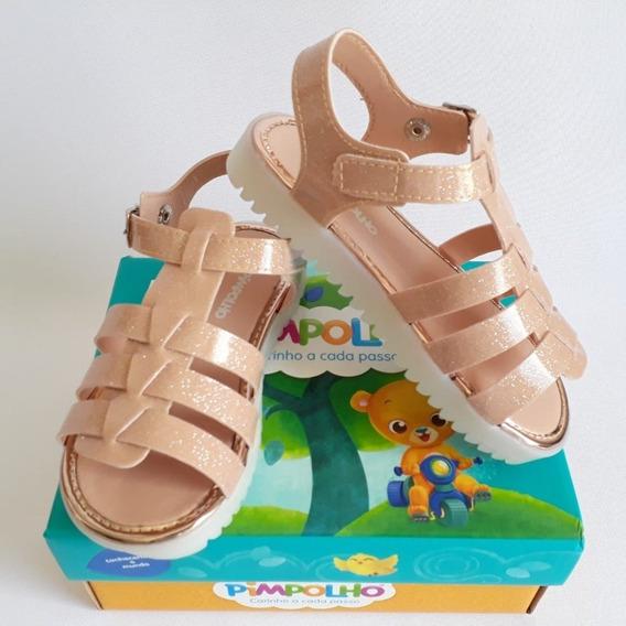 Sapato Infantil Menina Pimpolho Bege Fivela