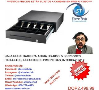 Caja Registradora Aokia Hs-405b, 5 Secciones P/billetes, 6 S