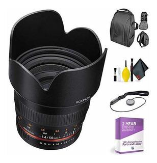 Rokinon 50mm F1.4 Lente P/ Nikon + Deluxe Lente Cleaning ©