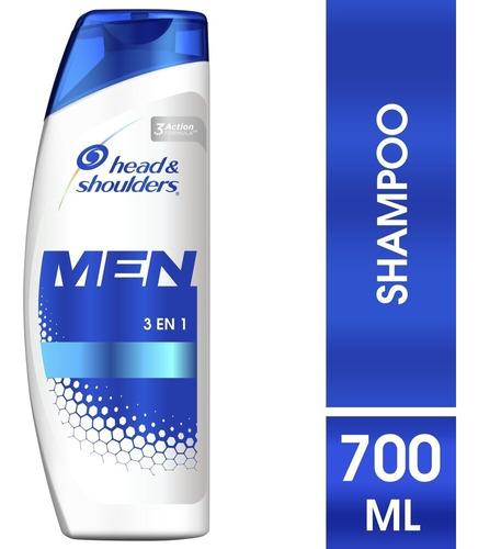 Shampoo Head & Shoulders 3en1 Para Hombres X 700ml