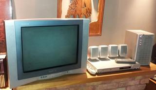 Tv 21 Flat Y Home Theatre 5.1 Con Dvd Audiologic