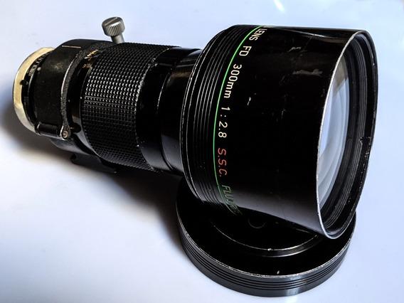 Lente Rara Canon Fd 300mm 2.8 Fluorite Convertida P/ Ef