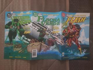 Cómic Flash, Linterna Verde, Flecha Verde 3 De 1 Especie Vid