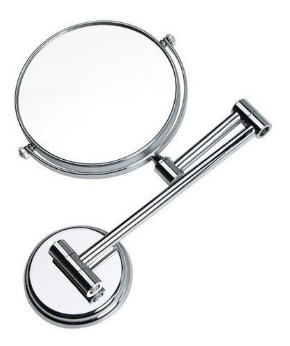 Espejo Extensible Doble Cara Diametro 20cm Accesorios Baño