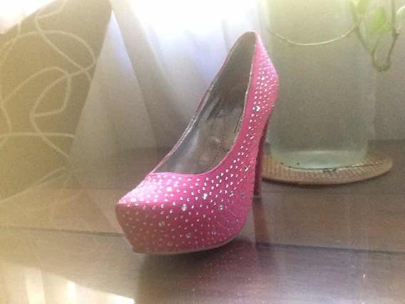 Zapato Taco Aguja Con Piedras