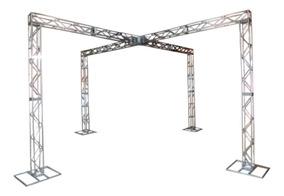 Treliças Kit Trave Box Truss Q20 Aço 3x6m Em X - Lourenço