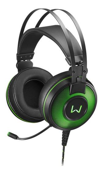 Fone De Ouvido - Headset Usb Gamer - Warrior Raiko - Verde -