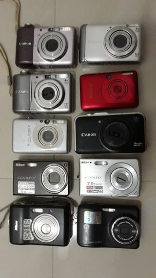 Câmeras Canon Para Retirada De Peças Ou Consertos