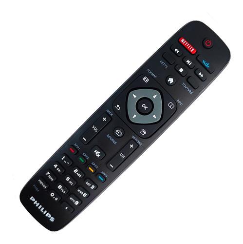 Imagen 1 de 10 de Control Remoto Philips Smart Netflix Youtube + Funda Y Pila