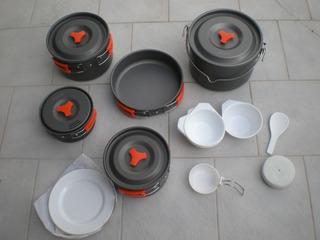 Marmitas Camping Atom P/6 A 8 Personas - No Doite
