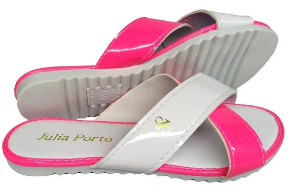 Sandália Rasteira Colorido Chinelo De Tira Rasteirinha Jp