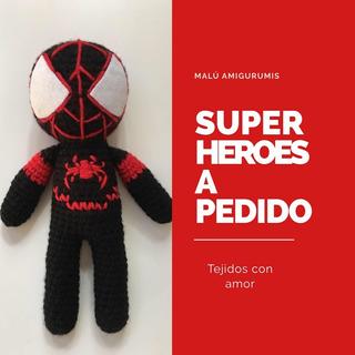 Super Héroe Amigurumi - Muñeco De Apego- Hombre Araña