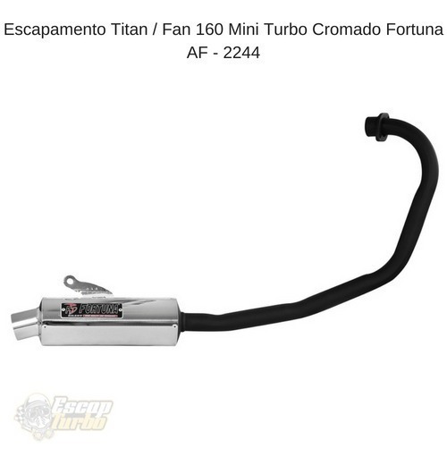 Escapamento Fan 160/ Start 160/ Titan Mini Turbo Fortuna