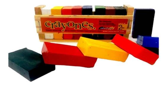 Crayones Pastas Prismaticos 8 Colores Dibujo Waldorf