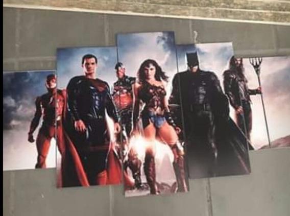 Quadro Super Heróis 120x60 Qualidade Fotográfica 4k