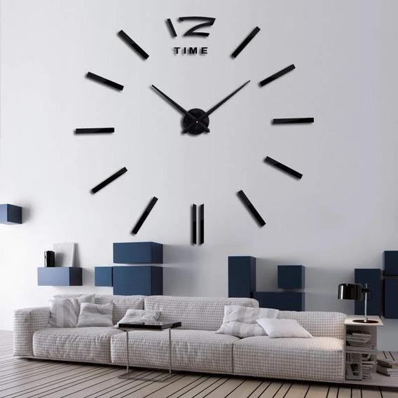 Lançamento Relógio De Parede 3d Grife Espelhado