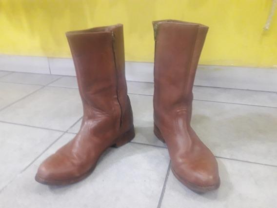 Botas De Gaucho Cuero Marron ( Artesanales )