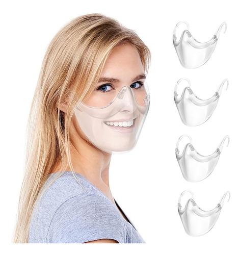 4 Escudos Facial Acrílico Reutilizable (no Se Empaña)