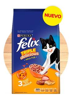 Felix Triple Delicious Granja Croqueta Para Gato 10 Kg