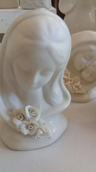 Virgen Niña Blanca Para Pintar Porcelana Fina