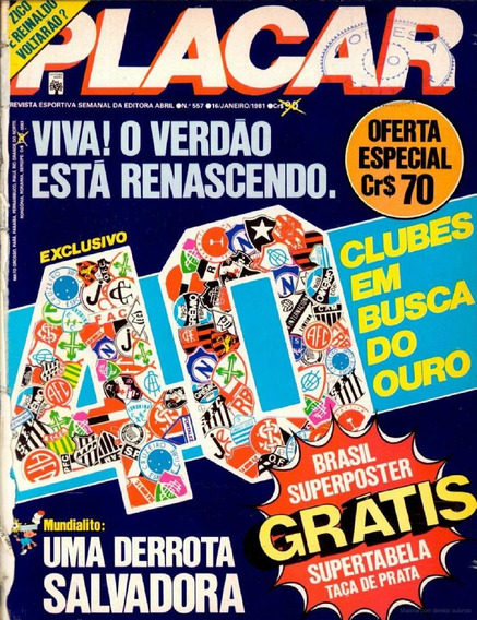 Revista Digitalizada Placar Guia Brasileiro 1981 + 2 Álbuns