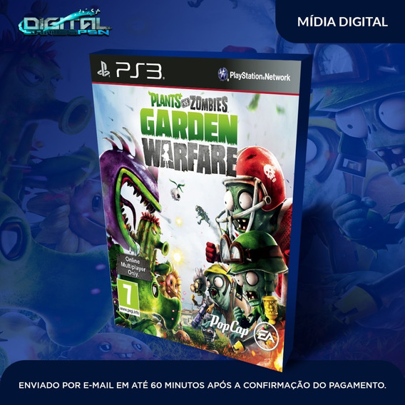 Plants Vs Zombies Garden Warfare Ps3 Midia Digital Envio Hj!