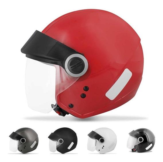 Capacete Moto Ebf Shield Solid Diversos Tamanhos E Cores