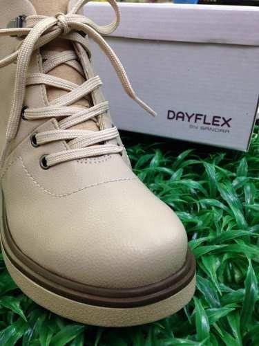 Bota Dayflex Ultra Conforto Preta/bege Promoção Barato