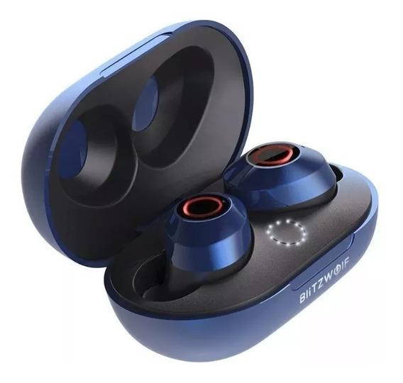 Fone De Ouvido Bluetooth 5.0 Blitzwolf Bw-fye5 Azul