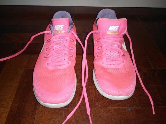 Zapatillas Nike Free Rn Talle 39.5 Arg 9 Us Fucsia