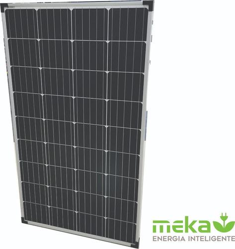 Imagen 1 de 4 de Panel Solar Fotovoltaico Monocristalino Meka 130 W