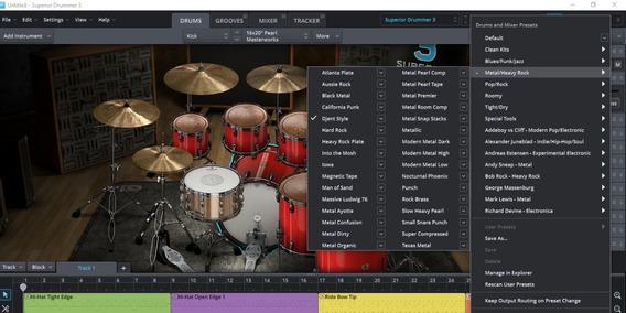 Superior Drummer 3-1-7 +ezdrummer 2.1.8 +sdx (expansões)