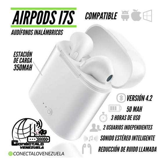 AirPods I7s Audifonos Inalambricos Para Android Y Apple