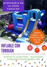 Piscina Con Tobogan Inflable, Cama Elastica Y Mas