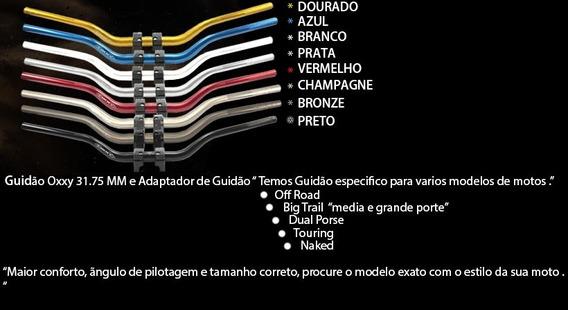 Guidao Oxxy Alto Preto Com Adaptador 31,75mm