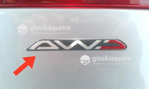 Imagem 1 de 1 de Emblema Awd Asx Outlander - Original Mitsubishi