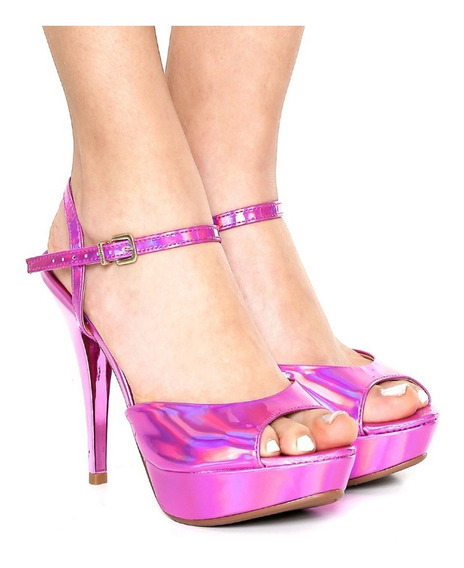 Promoção Sandália Vizzano Rosa/pink Holográfica, Nº 33