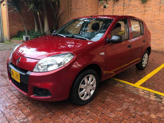 Renault Sandero Authentique 2015 Rojo Único Dueño
