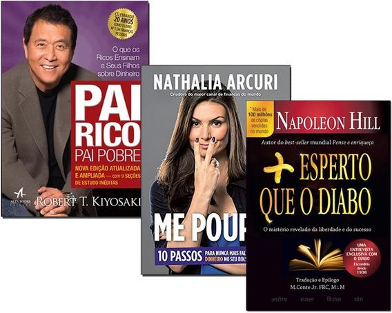 Livro Mais Esperto Que O Diabo+ Pai Rico Pai Pobre+ Me Poupe