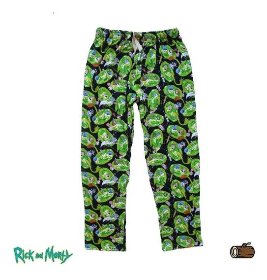 Pantalon Hombre Y Mujer Rick & Morty Portales Pants - Tranqui Pijamas