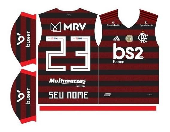 Template Camisa Flamengo 2019 Com Fonte Ttf Editável