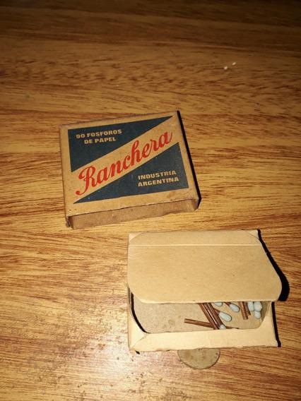 Atigua Caja Fosforos Ranchera Con 25 Fosforos