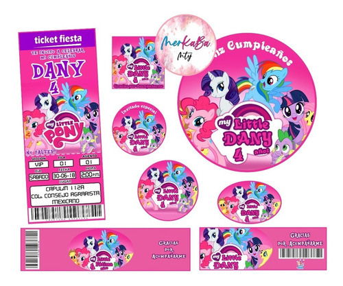 Invitacion Cumpleaños My Little Pony Kit Imprimelo Tú!!