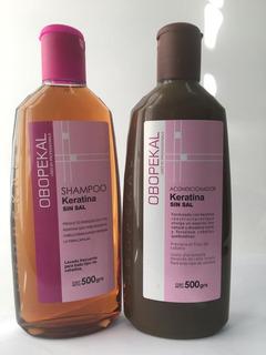 Duo De Shampoo Y Acondicionador Keratina Sin Sal Obopekal