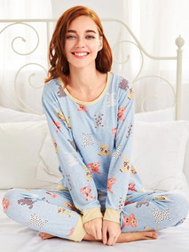 Pijama Con Estampado De Ositos