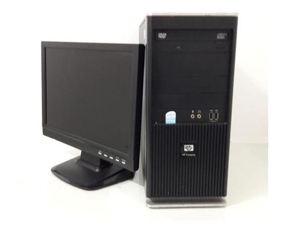 Kit Computador Hp Dual Hd 80gb 2gb + Monitor Mega Oferta