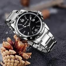 Relógio Masculino Prata Skone Original C/caixa Novo