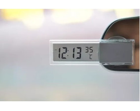 Relógio E Temomêtro Digital Para Carro Pilha Inclusa!